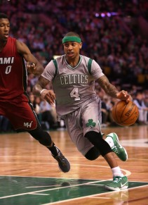 When it's close and late, the Celtics call on Isaiah Thomas. Will he be enough to get the Celtics to the second round? (Getty Images)