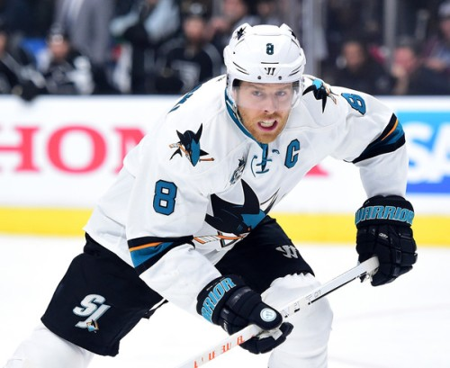 San Jose's Joe Pavelski has been dominant in their first round series against Los Angeles. (Getty Images)