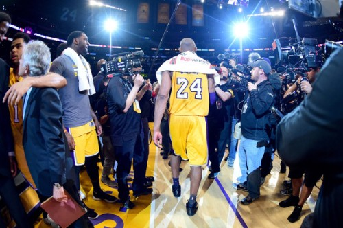 Kobe Bryant left the NBA in the most Kobe Bryant way possible. (Getty Images)