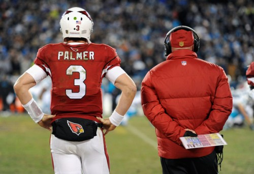 After ending last season in bitter disappointment, can Carson Palmer and coach Bruce Arians rally the troops and lead them to the Super Bowl? (Getty Images)