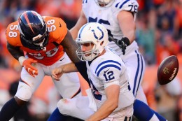 Colts management still cannot get help for Andrew Luck. (Getty Images)