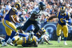 With Thomas Rawls ailing it looks like it will be up to Christine Michael to pick up a slumping Seattle running game. (Getty Images)