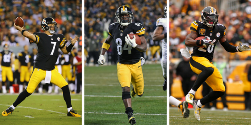 The Steelers own the best offensive trio in the league when they are available.