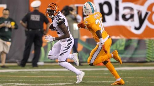 There was nothing Dolphin corners could do with AJ Green last night. (Getty Images)