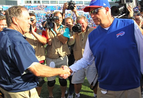Rex Ryan doesn't hide his disdain of the Patriots.  Bill Belichick will look to best him again. (Getty Images)