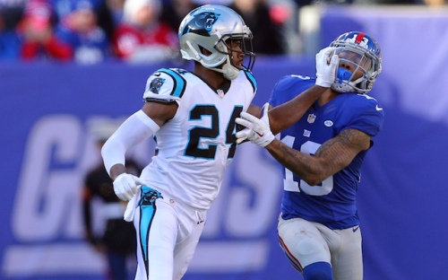 All eyes will be on Odell Beckham and Josh Norman this week. (Getty Images)