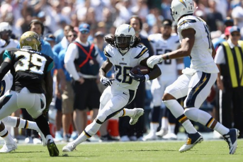 With injuries mounting, the Chargers will have to rely increasingly Melvin Gordon. (Getty Images)