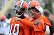 RG3 and Hue Jackson will look to revitalize the Browns offense. (Nick Cammett/Diamond Images/Getty Images)