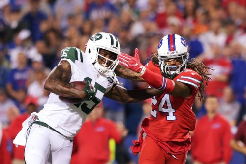 A rough night from Stephon Gilmore and the secondary left the Bills with no shot at winning Thursday. (Getty Images)