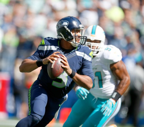 Russell Wilson and Seahawks will be Atlanta's biggest test to date. (Getty Images)