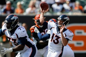Trevor Siemian will look to back up last week's 4 TD performance. (Getty Images)