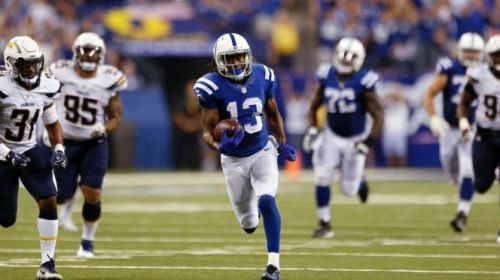 TY Hilton has been a target monster for the Colts and money in daily fantasy this season. (Getty Images)