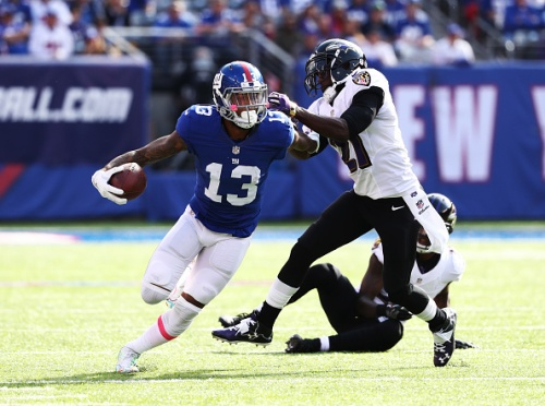 Odell Beckham vs the Browns feels like cheating. Play him. (Getty Images)
