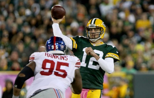 Aaron Rodgers and the Packers got the job done against the GIants. (Getty Images)