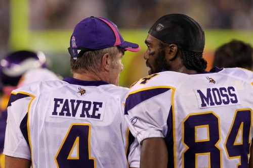 The NFL was a lot more fun when characters like Favre and Moss were playing in the league. (Getty Images)