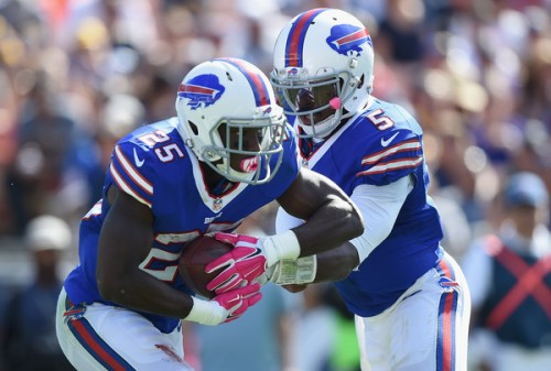 For the 3rd week in a row, LeSean McCoy was the hub of the Bills offense. (Getty Images)