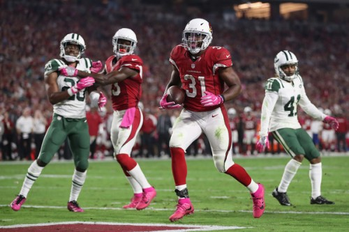David Johnson and the Cardinals have been one of the unluckiest teams in the league so far. (Getty Images)