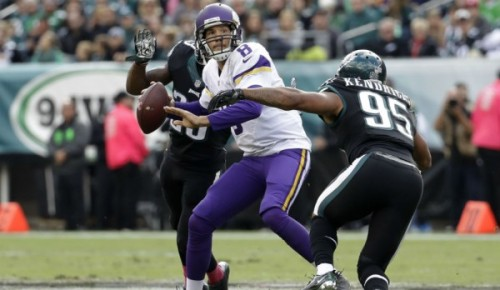 The Eagles defense brought Sam Bradford and the Vikings crashing back to Earth. (Getty Images)