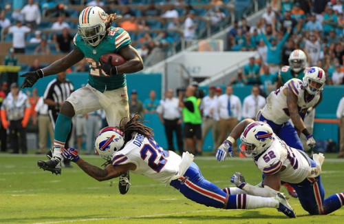 Jay Ajayi ran all over the Bills Sunday to the tune of over 200 yards. (Getty Images)