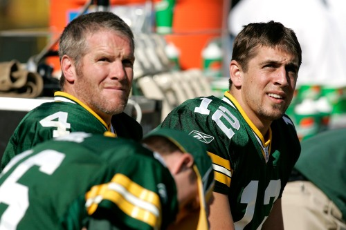 Rodgers would know the cumulative negative effects of playing with an injury from his time with Brett Favre. (Getty Images)