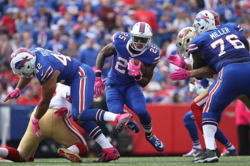 With his backup out this week, LeSean McCoy is facing a big workload against a soft Jacksonville defense.