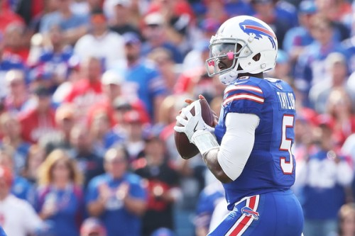Tyrod Taylor's calm demeanor is almost as valuable as his elite speed. (Getty Images)