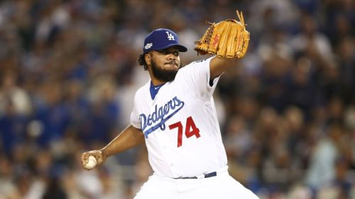 Kenley Jansen is one of the best pitchers available in a deep free agency class. (Getty Images)