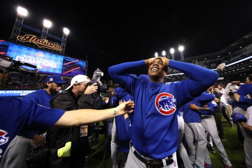 Aroldis Chapman is a World Series Champion and is about to get a whole hell of a lot richer. (Getty Images)