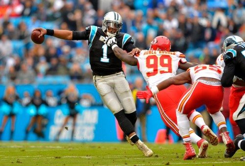 Cam Newton couldn't finish the job for his Panthers Sunday. (Getty Images)
