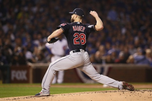 Corey Kluber will have to save the day for Cleveland, pitching on short rest again. (Getty Images)