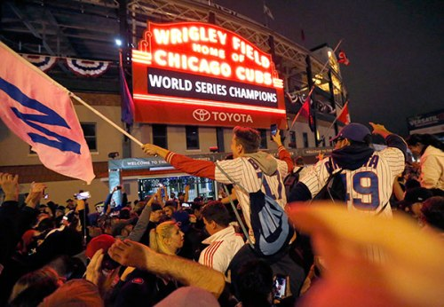 While you were dodging frozen pigs and escaping from a frozen hell, the impossible happened: the Cubs won the World Series.