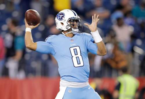 Despite his team improving, Marcus Mariota has regressed. (Getty Images)
