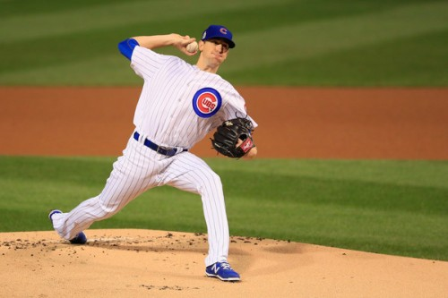 The Cubs are a good Kyle Hendricks start away from from their first World Series championship in 108 years. No pressure Kyle. (Getty Images)