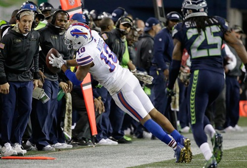 An great Robert Woods performance is one of many that have been thrown in the background because of bad officiating. (Getty Images)