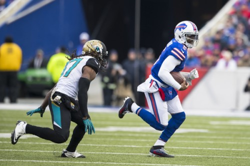 Tyrod Taylor is a unique mix of frustrating lows mixed with tantalizing highs. (Getty Images)